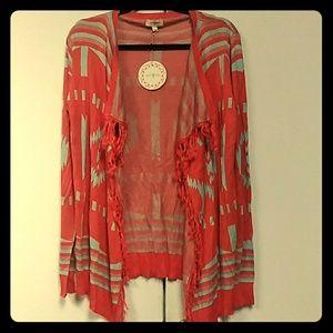 Umgee cardigan sweater NWT large